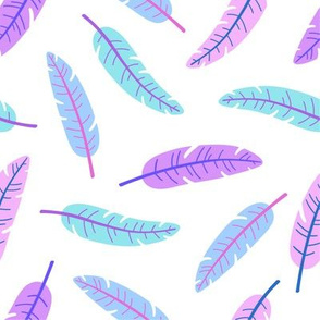 Banana palm leaves