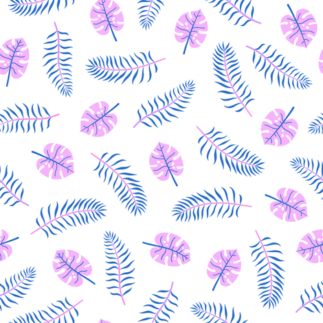 Tropical palms leaves fabric by kondratya on Spoonflower - custom fabric