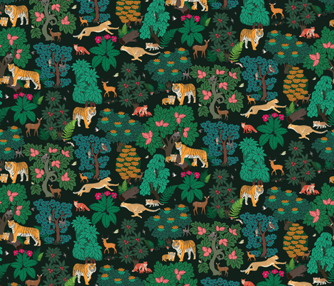 The magical forest-01 fabric by geetanjali on Spoonflower - custom fabric