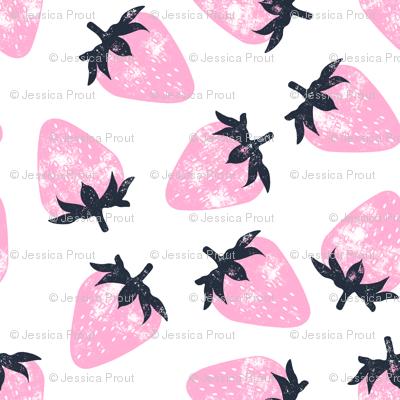 strawberries - pink