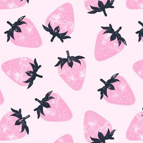 strawberries - pink on pink