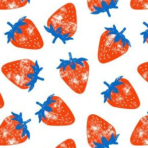 strawberries - red & blue