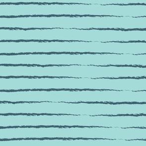 Summer Stripes - Navy & Teal