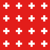 bright red swiss cross+