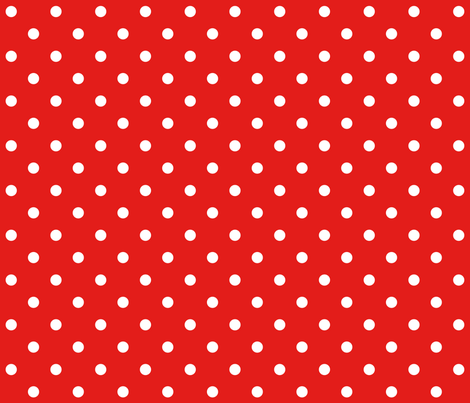 bright red polka dots E31D1A fabric by misstiina on Spoonflower - custom fabric