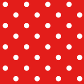 bright red polka dots E31D1A