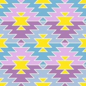 07752334 : jagged diamond : summer pastels