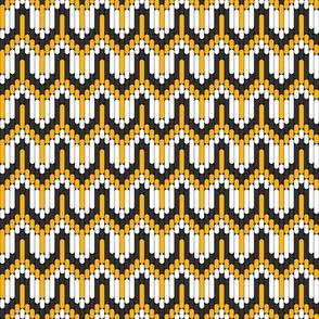 Bargello Bird Tracks in Marigold