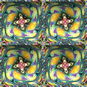 """4"""" BOXED 3D SQUARE ABSTRACT EXOTIC FLOWERS"""