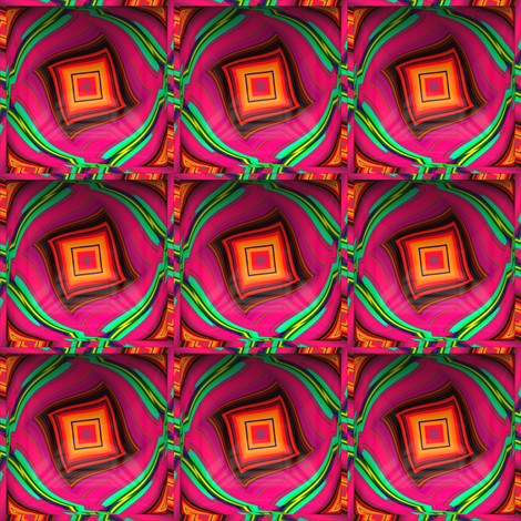 CONTOUR EMBOSSED 3D SQUARE DANCING LOZENGE TROPICAL fabric by paysmage on Spoonflower - custom fabric