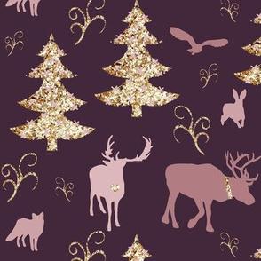winterland goldpinkpink purple