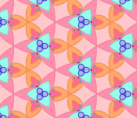 Tropical kaleidoscope fabric by craftsturbator_ on Spoonflower - custom fabric