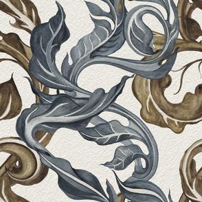 Sea  Water plant  Victorian pattern
