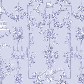 Pompadour Toile blue violet 2