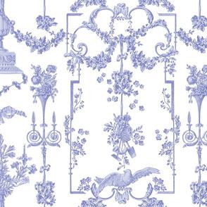 Pompadour Toile blue violet 3