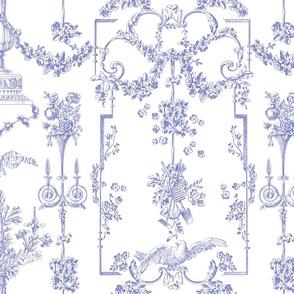 Pompadour Toile blue violet 1