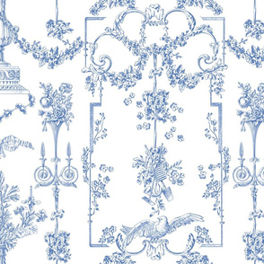 Pompadour Toile blueberry 1