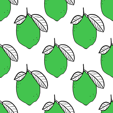 modern limes fabric by tarareed on Spoonflower - custom fabric