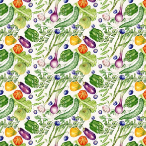garden tales Farmers Market Fabric,small scale