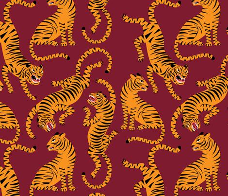 Tigers fabric by radiocat on Spoonflower - custom fabric