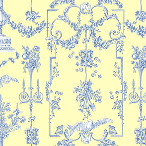 Pompadour Toile blueberry 4
