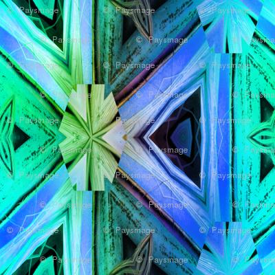 bamboo 10 marquetery triangles blue purple emerald