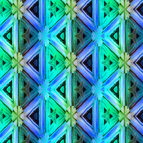 bamboo 10 marquetery triangles blue purple emerald fabric by paysmage on Spoonflower - custom fabric