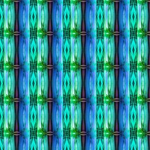 bamboo 13 stripes 3 blue purple emerald