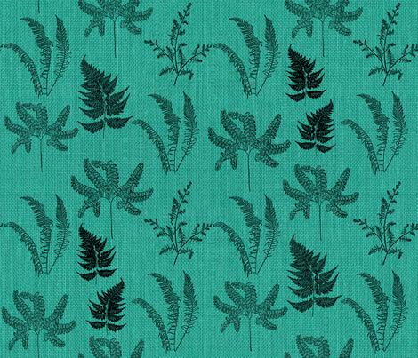 Emerald Forest Ferns fabric by mypetalpress on Spoonflower - custom fabric