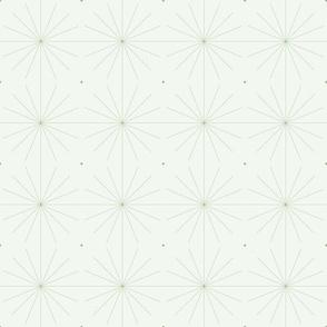 Nineteen Sixty Starburst: Mossy Green Geometric Design, MCM