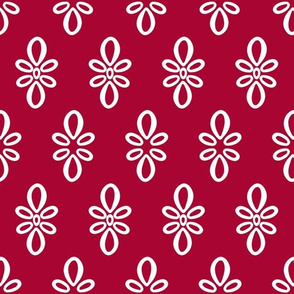 Oklahoma Sooners Crimson w/White Oval Motif