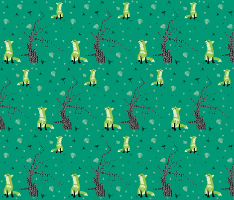 Forest foxes fabric by redthanet on Spoonflower - custom fabric