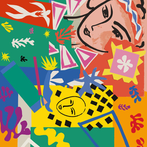 Matisse Cut-outs Collage