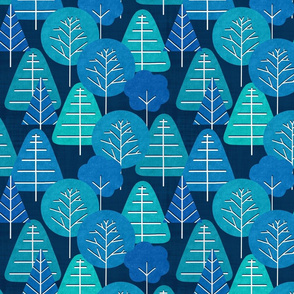 Teal Scandi Forest