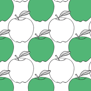 Modern Green Apples - large scale