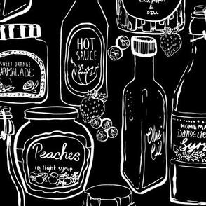 Jars and Bottles black