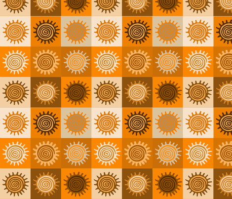 Sunshine Decor fabric by vagabond_folk_art on Spoonflower - custom fabric