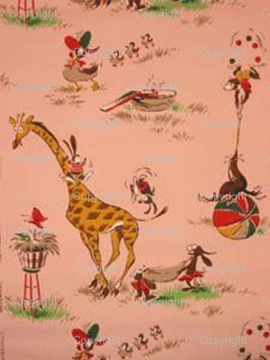-retro-circus--nursery-wallpaper pink