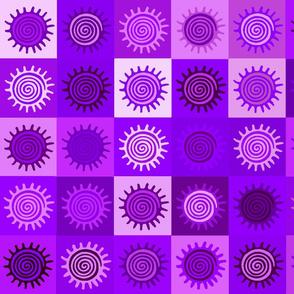 Violet Sunny Day