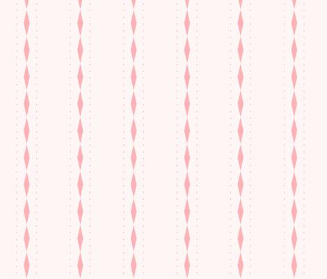 Queen of Diamonds Stripe: Millennial Pink Stripe fabric by dept_6 on Spoonflower - custom fabric