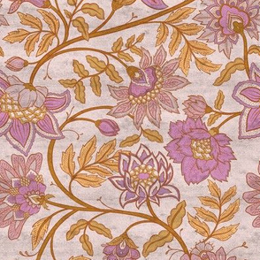Indienne - Pink and Ochre Distressed