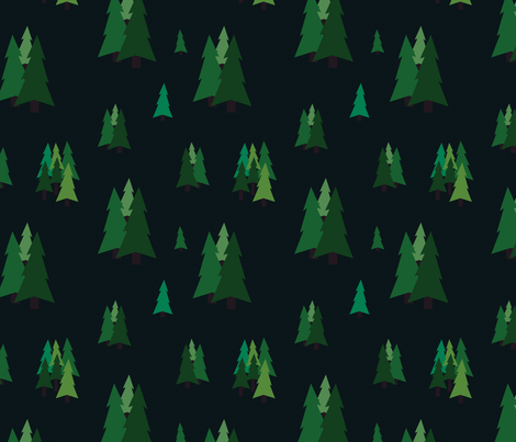 Pine Trees fabric by svaeth on Spoonflower - custom fabric
