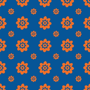 Florida Gators Blue w/Orange Flowers BR