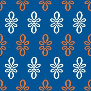 Florida Gators Blue w/ Orange White Oval Motif