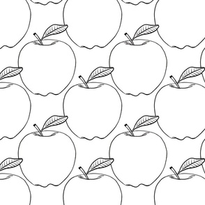 Apples - black and white