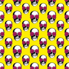 Skulls and Roses | Yellow and Pink