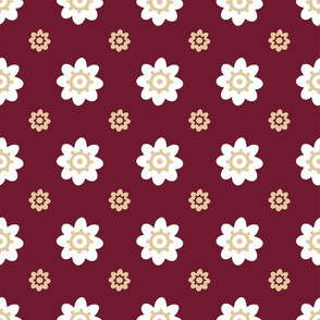 Florida State Red white gold flowers-01