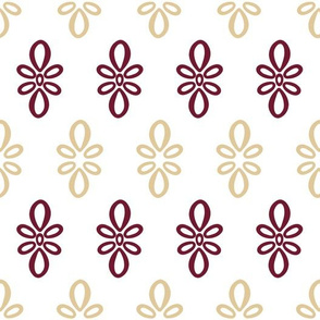 Florida State What with Red Gold Oval pattern