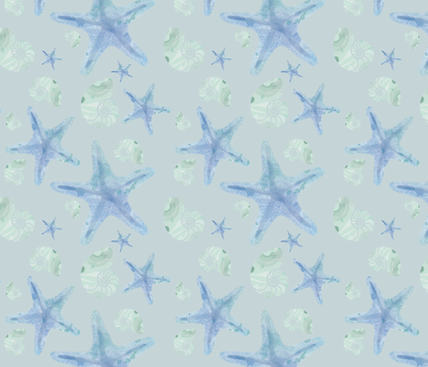 Starfish Shells fabric by veritas_design on Spoonflower - custom fabric