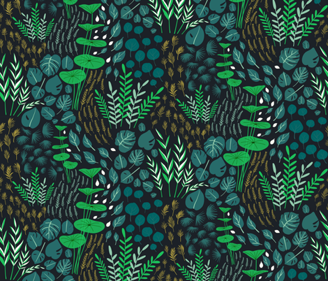 Emerald forest-Emerald fabric by alpinist on Spoonflower - custom fabric